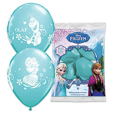 Lot de 6 ballons La Reine des Neiges