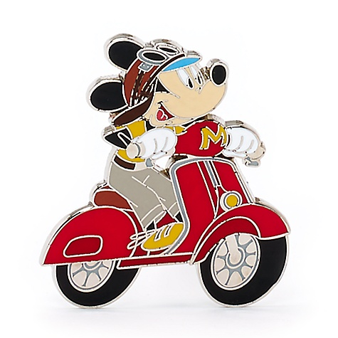 Pin's Disneyland Paris Mickey Mouse en scooter
