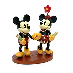 Figurine rétro Mickey et Minnie Mouse