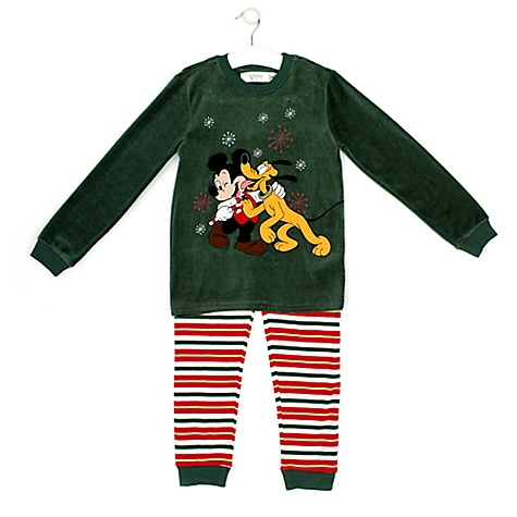 pyjama de noel mickey pour enfants 2 ans petites. Black Bedroom Furniture Sets. Home Design Ideas