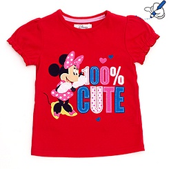 T-shirt pour enfants Minnie Mouse 100 % cute