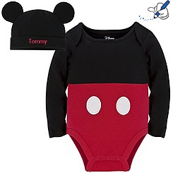 Body et bonnet Mickey Mouse (personnalisable)
