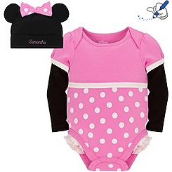Body et bonnet Minnie Mouse (personnalisable)