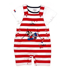 Ensemble salopette courte Mickey Mouse