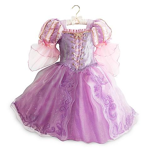 Robe de déguisement de luxe Raiponce pour enfants-5-6 ans