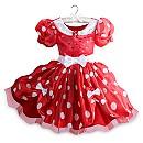 Robe de déguisement Minnie Mouse rouge pour enfants