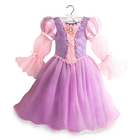 Robe de déguisement lumineuse Raiponce pour enfants-4 ans