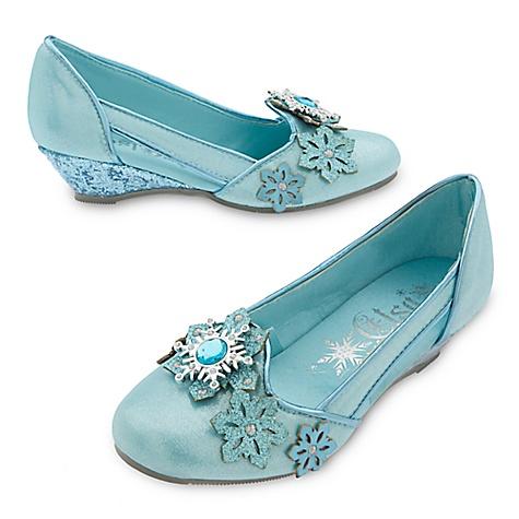 Chaussures de déguisement pour enfants Elsa de La Reine des Neiges-32-33