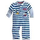 Barboteuse Mickey Mouse en tricot pour bébé