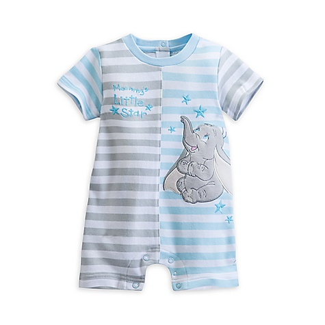 Barboteuse Dumbo Layette à rayures pour bébé-0-3 mois