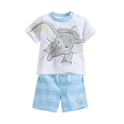 T-shirt et short Dumbo Layette pour bébé-3-6 mois
