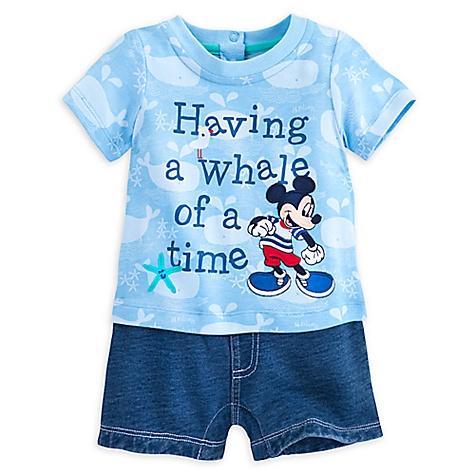 Grenouillère courte Mickey Mouse pour bébé-9-12 mois