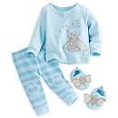 Haut, pantalon et chaussons en tricot Dumbo Layette pour bébé