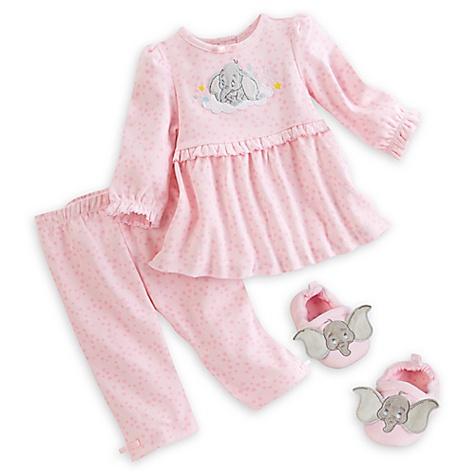Haut, pantalon et chaussons en tricot Dumbo Layette pour bébé-nouveau né