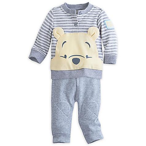 Ensemble haut et pantalon en tricot Winnie l'Ourson pour bébé-9-12 mois