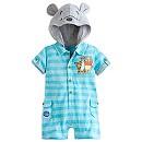 Grenouillère à capuche en tricot Winnie l'Ourson pour bébé