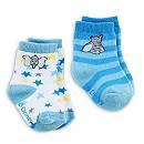 2 paires de chaussettes Dumbo Layette bleues