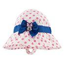 Chapeau de plage Minnie Mouse rose pour bébé
