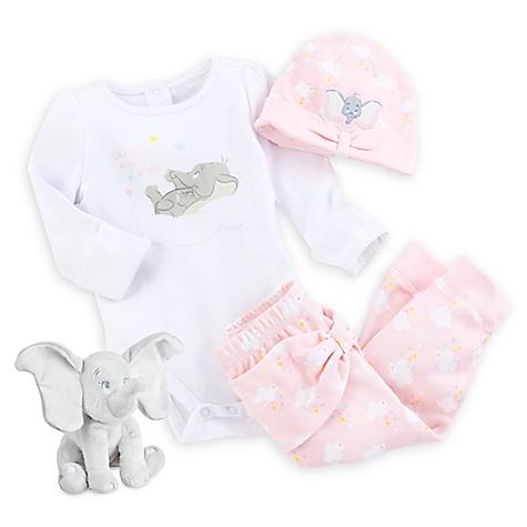 Coffret cadeau rose Dumbo Layette pour bébé-nouveau né