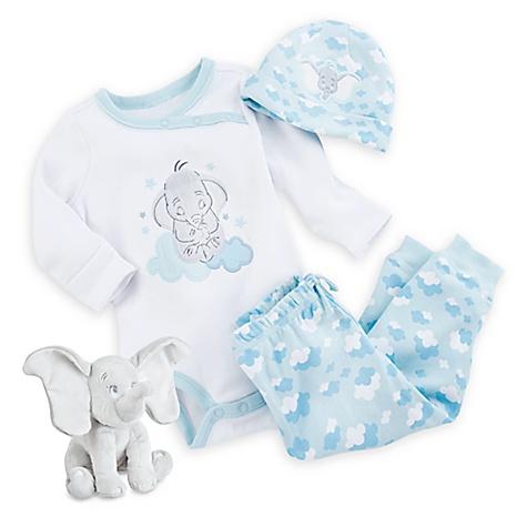 Coffret Cadeau bleu Dumbo Layette pour bébé-0-3 mois