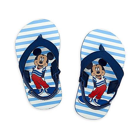 Tongs Mickey Mouse bleues pour bébé-0-6 mois