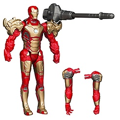 Figurine d'action Assemblers, Iron Man Mark 42 de 9,37 cm
