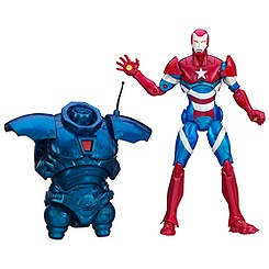 Figurine articulée Iron Man Marvel Legends, Iron Patriot, 15 cm