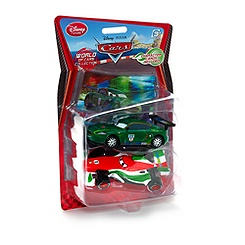 Figurines Francesco Bernoulli et Nigel Gearsley de Disney Pixar Cars