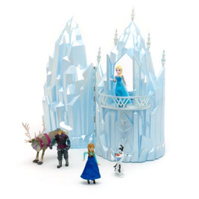 autre modle de maison de poupe la reine des neiges le chteau de glace musical elsa qui est capable de silluminer en imitant les cristaux de glace