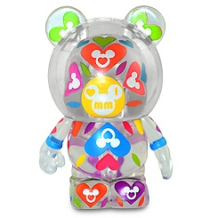Figurine transparente de 7,5 cm Vinylmation I Love Mickey