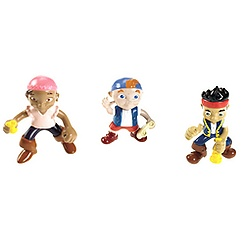 Ensemble de figurines Jake, Le Frisé et Izzy