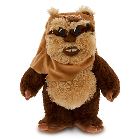 peluche de taille moyenne wicket de star wars peluches. Black Bedroom Furniture Sets. Home Design Ideas