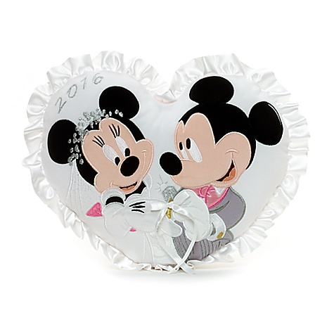 Coussin de mariage Mickey et Minnie Mouse