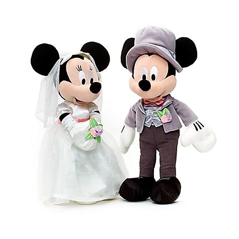 Peluche de mariage Mickey et Minnie Mouse