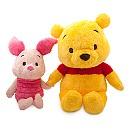 Ensemble de peluches grande taille Winnie l'Ourson et Porcinet style manga