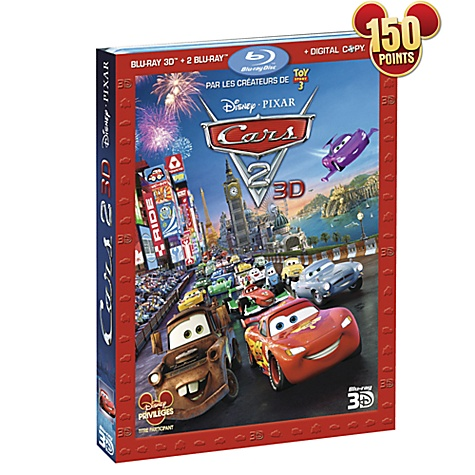 Blu-ray 3D Disney Pixar Cars 2