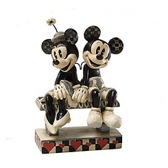 Figurine Minnie et Mickey Rendez-vous nocturne Jim Shore Disney Traditions