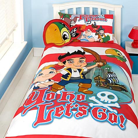 parure de lit une place et coussin jake et les pirates du pays