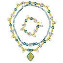 Parure de bijoux incluant un collier et un bracelet Fée Clochette