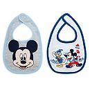 Lot de 2 bavoirs Mickey Mouse pour bébé