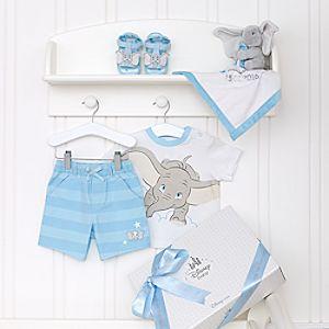 Ensemble cadeau personnalisé pour bébé Dumbo Layette Bleu