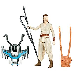 Figurine 9,5 cm Star Wars : Le Réveil de la Force Rey (Base Starkiller) Mission Neige