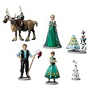 Ensemble de figurines La Reine des Neiges: une Fête Givrée