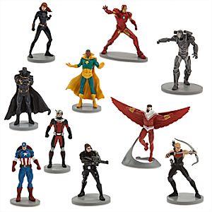 Ensemble de figurines de luxe Captain America : Civil War