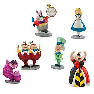 Ensemble de figurines Alice au Pays des Merveilles