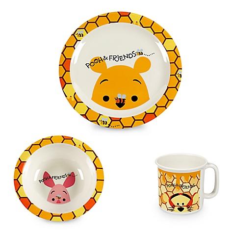 Assiette, bol et tasse en mélamine Winnie l'Ourson et ses amis