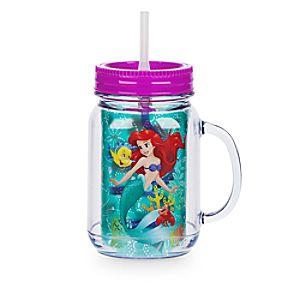 Gobelet pot de confiture Ariel avec paille