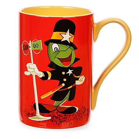Mug Jiminy Cricket de Pinocchio en policier style rétro