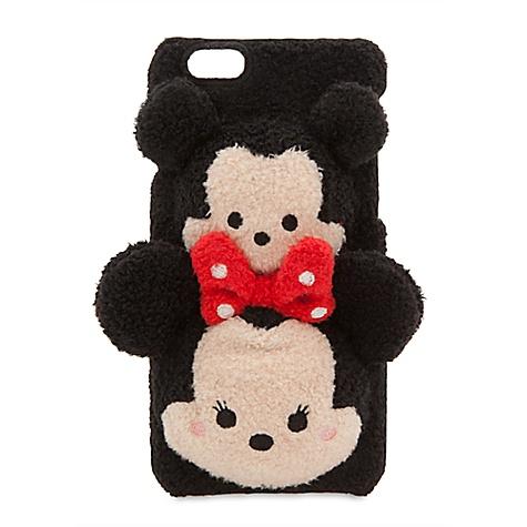 Pochette de téléphone à clip en tissu peluche Tsum Tsum Mickey et Minnie Mouse