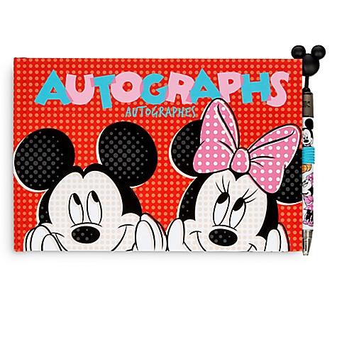 Carnet d'autographes Mickey Mouse et Minnie Mouse